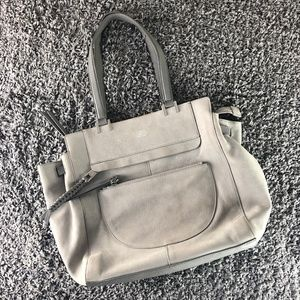 Vince Camuto Bags - Vince Camuto Ayla Leather Tote in Rain Cloud Grey